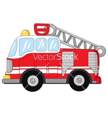 Fire Truck Vector Fire Trucks Car Cartoon Fireman