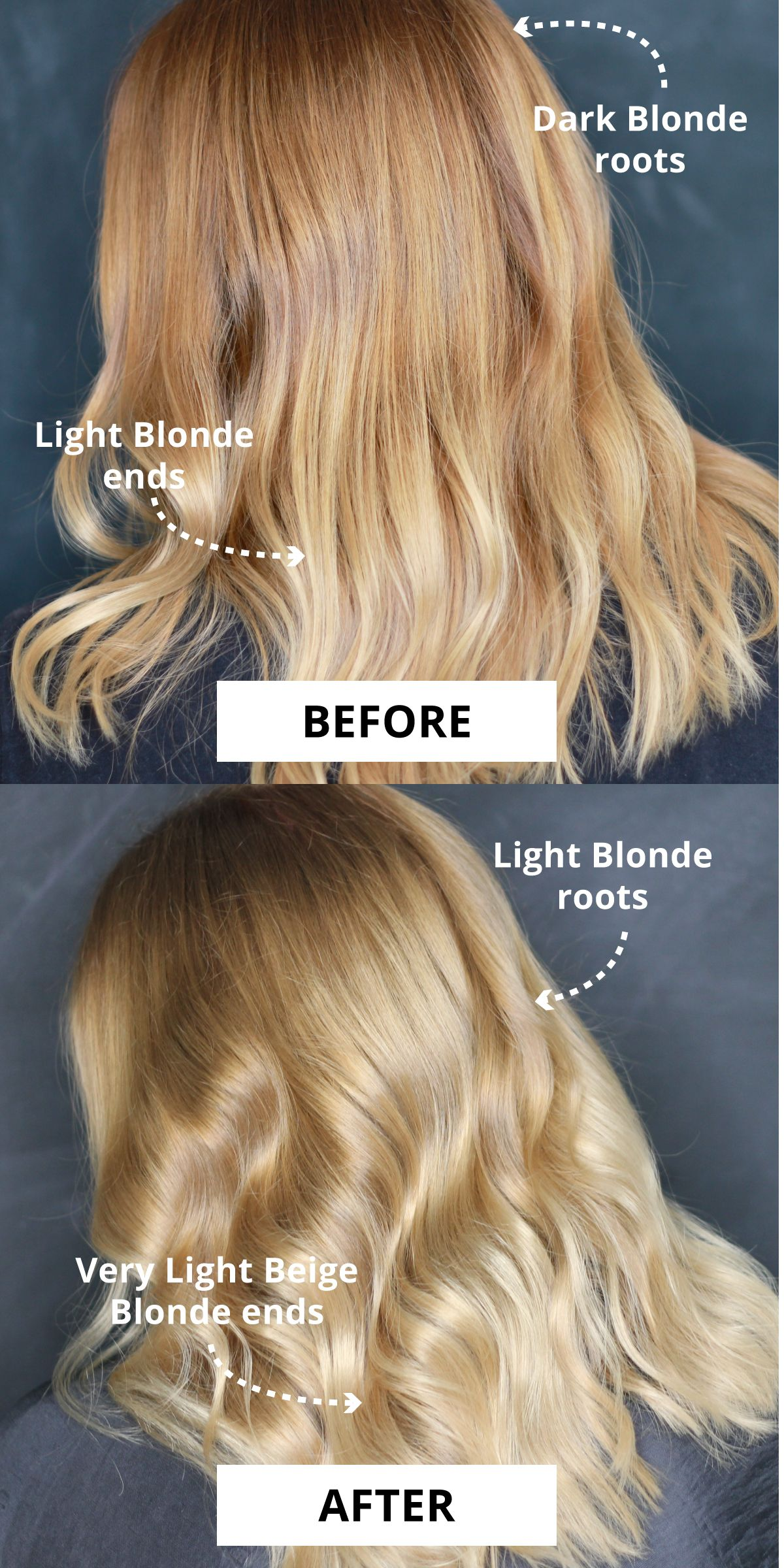 How I Went From Dark Blonde To Light Blonde Without Bleach Light Blonde Light Blonde Hair Dark Blonde