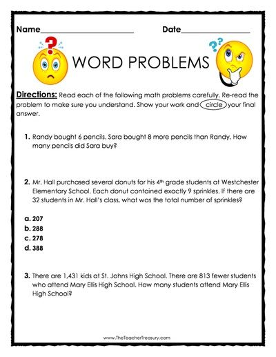 Word Problems Mixed Practice Freebie   Pages  Questions