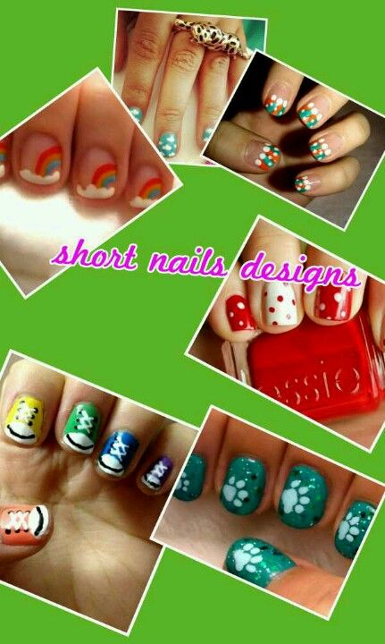 simple nail designs for short nails | nails | Pinterest | Estilo