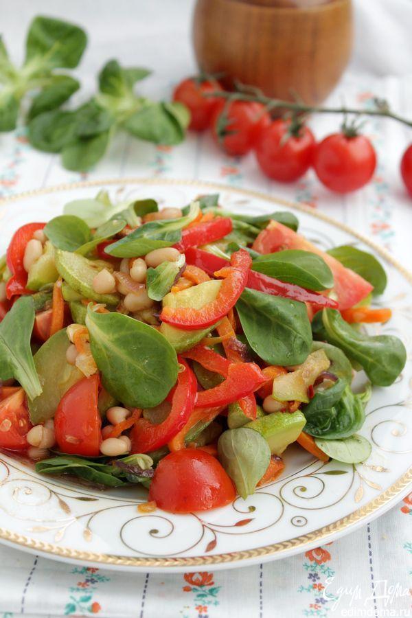 Салат с фасолью острый   Рецепт   Еда, Салаты и Рецепты еды