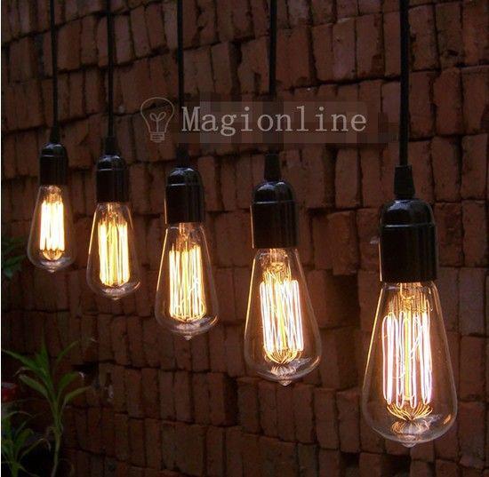 Fashion Creative Line Hanging Bulb Pendant Lights For Restaurant Club Bars 5pc Lot 43 00