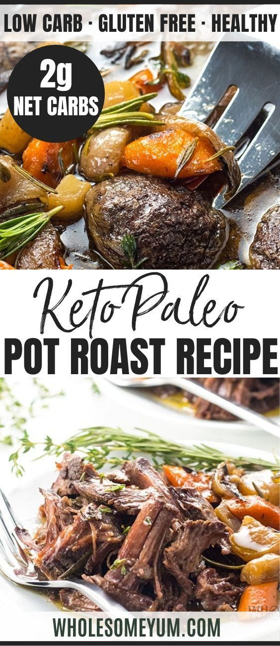 Keto Low Carb Pot Roast Slow Cooker Recipe