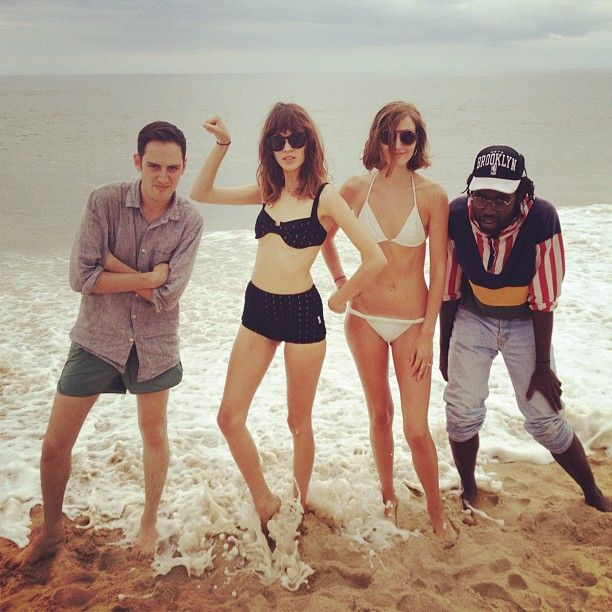 """Alan, Alexa, Jenna and Dev """"Just before all out stuff got soaked !!"""""""