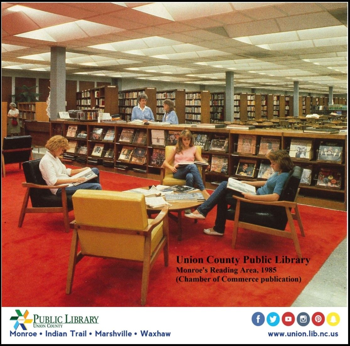 Tbt Our Reading Area Had A Large Chinese Red Rug This Was Gone By 2003 When The Union County Public Library Under Reading Area Union County Public Library