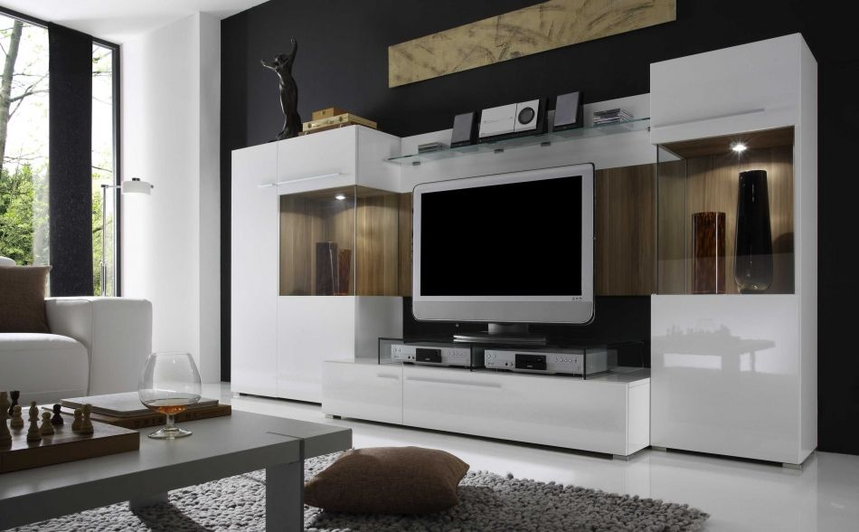 Breathtaking Modern Wall Unit Entertainment Center Modern Entertainment Center Ideas White Cabinets With Tv Space And Glass Shelves An Mobili Lampade Credenzas