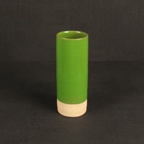 Les Guimards Small Cylinder Vase - Green. #lifeinstyle #greenwithenvy