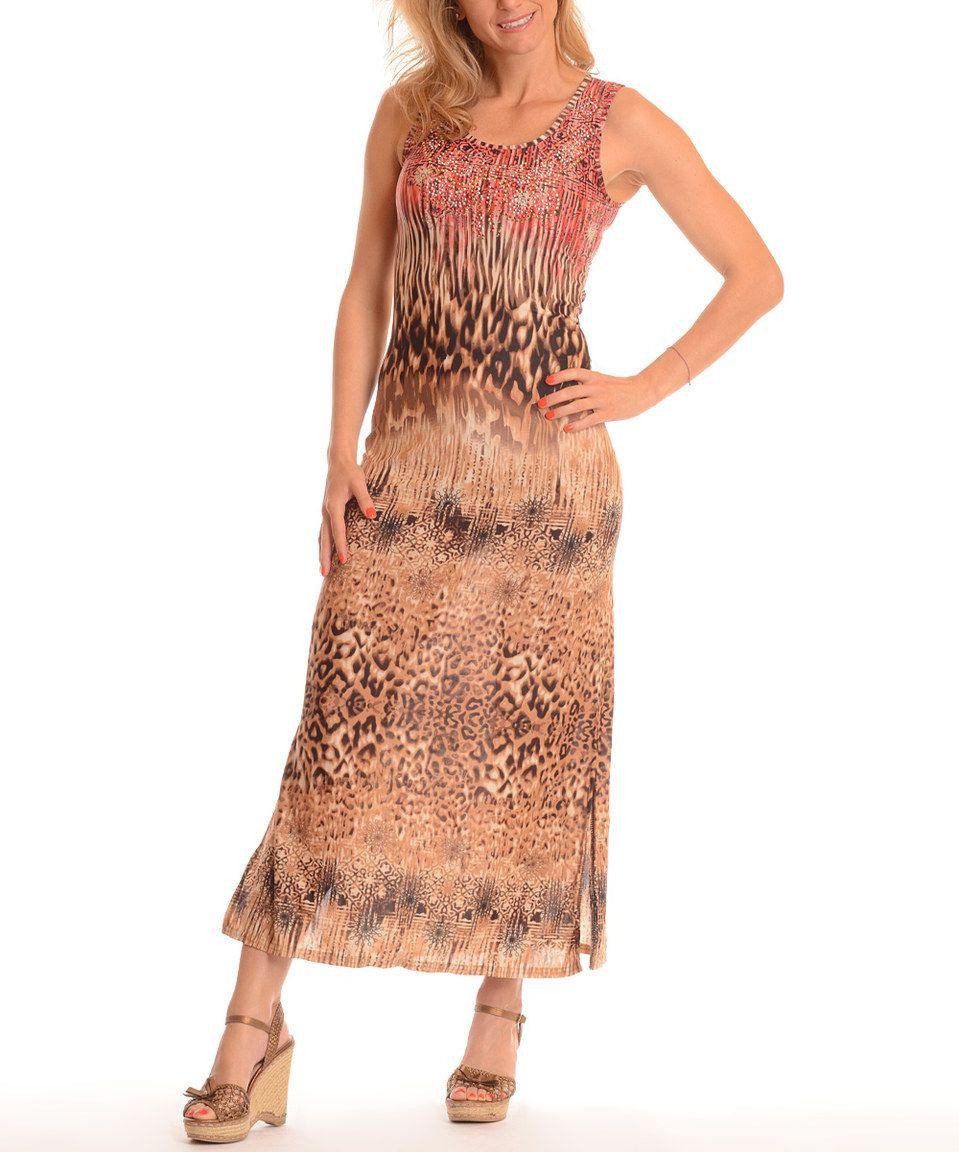 Pink leopard sleeveless maxi dress pink leopard maxi dresses and
