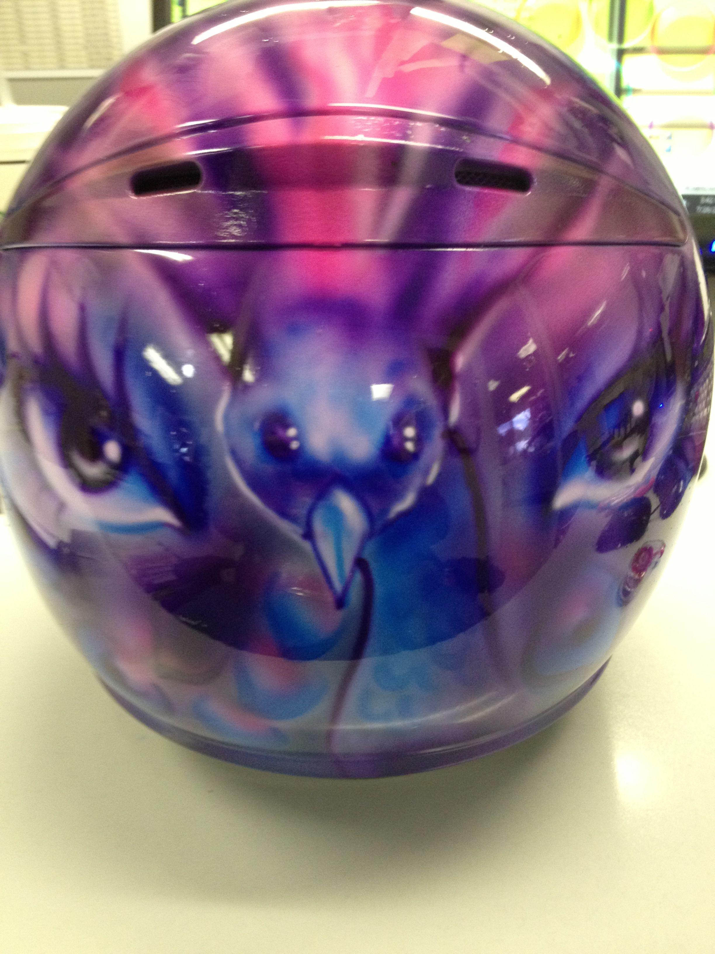 customized helmet - peacock
