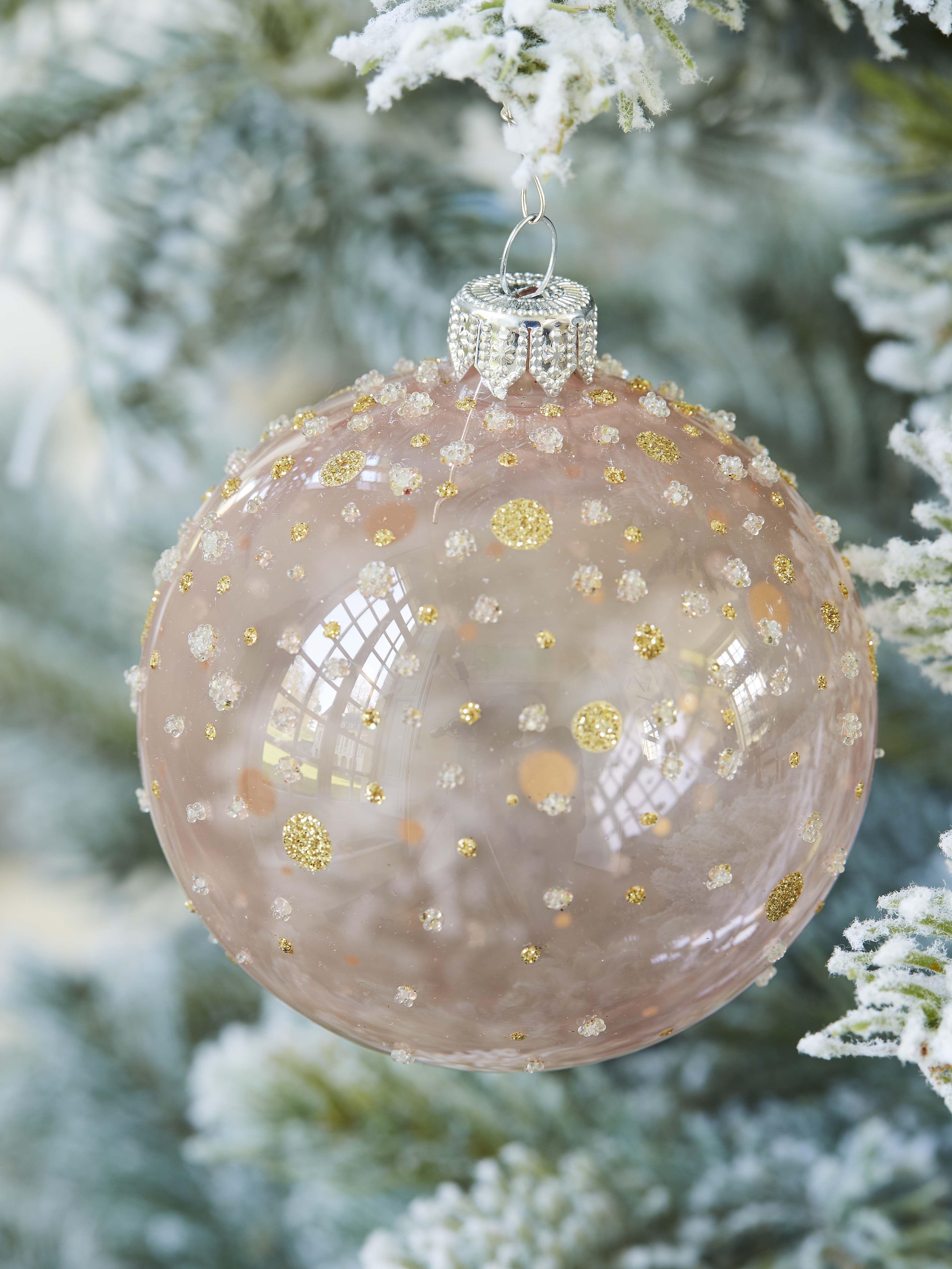 Boule verre pois pailletés D8cm | Decoration noel, Couleurs de