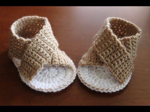 Sandalki Buciki Na Szydelku 9 Cm Youtube Crochet Baby Crochet Shoes Baby Shoes