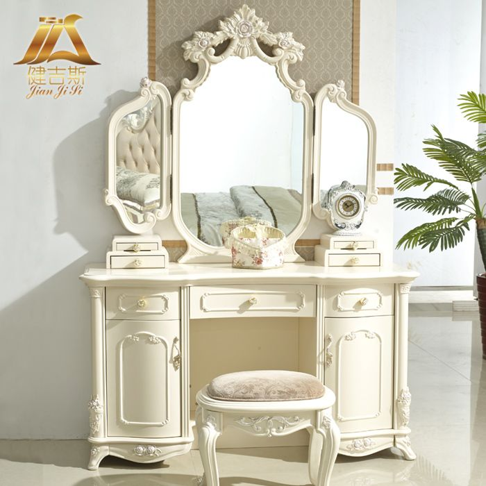 Gith furniture fashion dressing table desktop makeup for Beauty parlour dressing table images