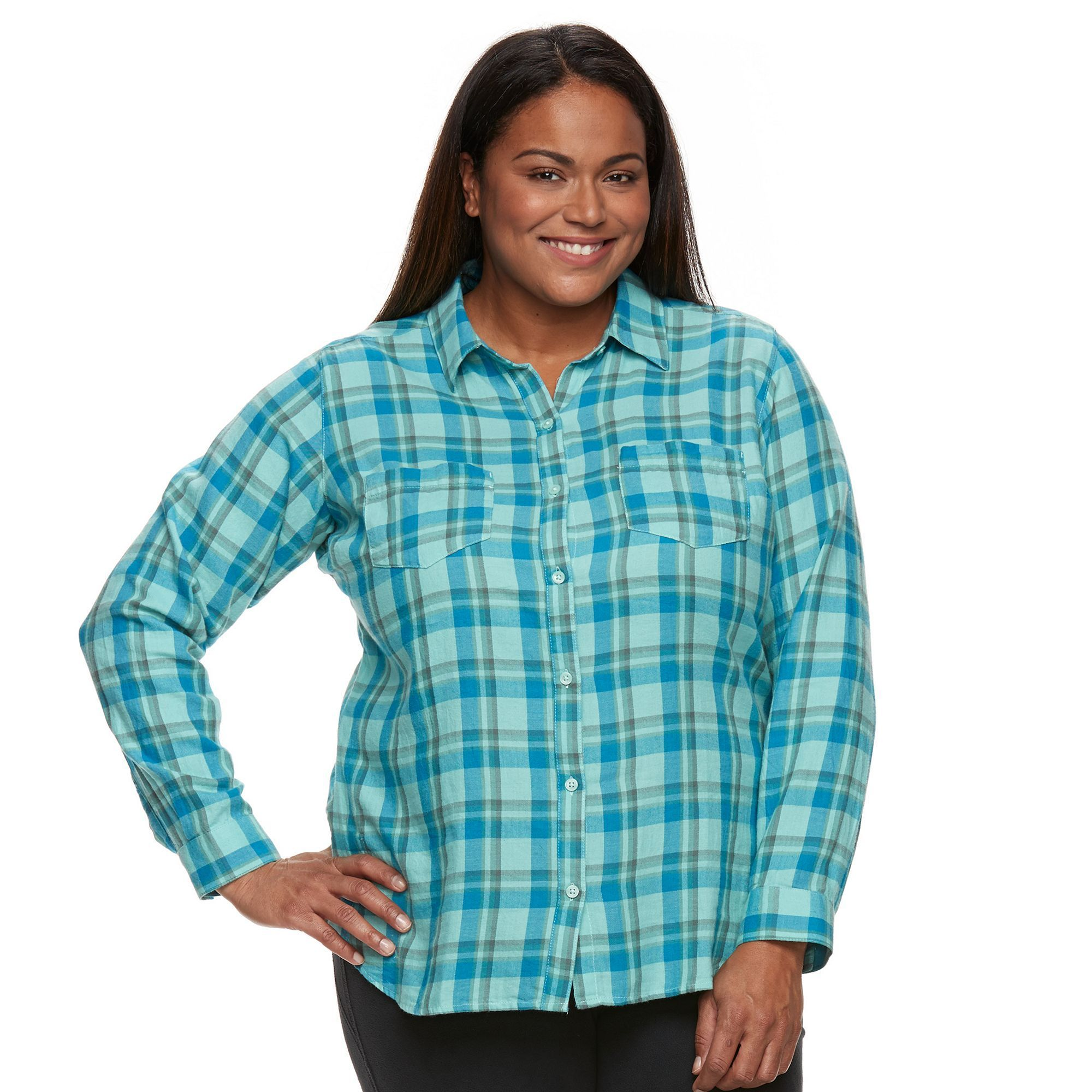 Plus size womens flannel shirt  Plus Size Columbia Holston Ridge Flannel Shirt Womenus Size XL