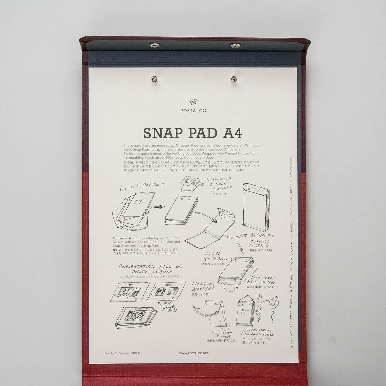 Postalco Snap Pad A4 rot