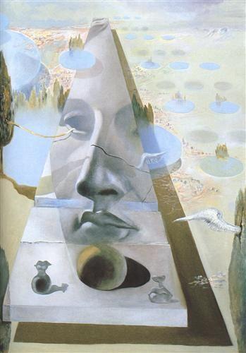 Apparition of the Visage of Aphrodite of Cnidos in a Landscape - Salvador Dali