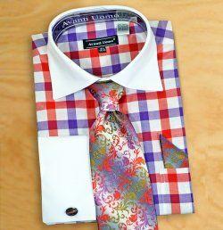 6104936c2b4b Avanti Uomo Mauve / Rose / Pink / Rust Shirt / Tie / Hanky Set With Free  Cufflinks DN67M