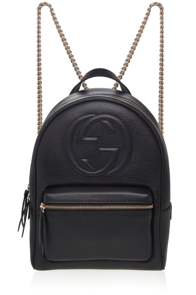 52e8ec930a40 Soho Leather Chain Backpack Gucci