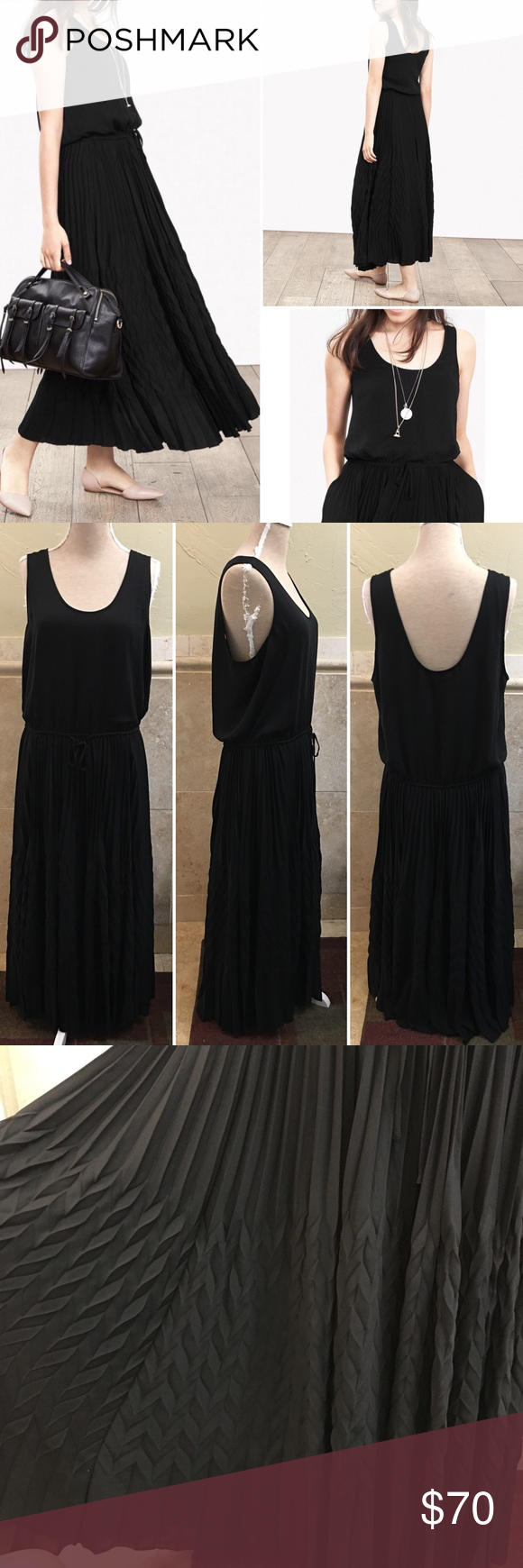 Banana Republic Zigzag Maxi Black Dress Xl Black Maxi Dress Black Dress Dresses [ 1740 x 580 Pixel ]