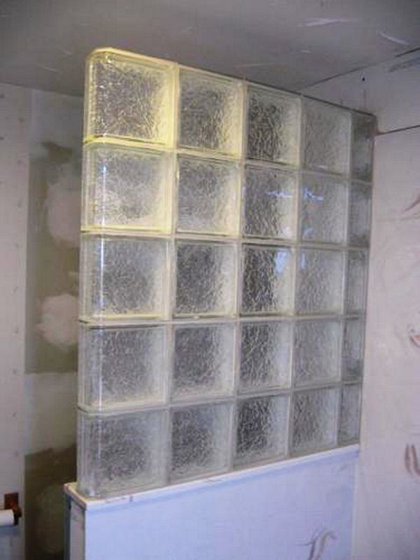 Glass Blocks Used In Bathrooms | ... Glass Block. The Shower Door Is