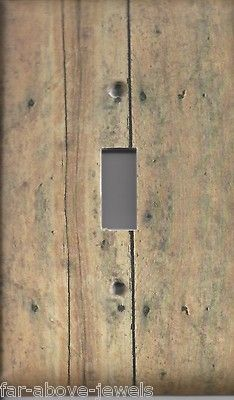 Light Switch Plate Switchplate Outlet Covers Rustic Brown Wood Planks Ebay
