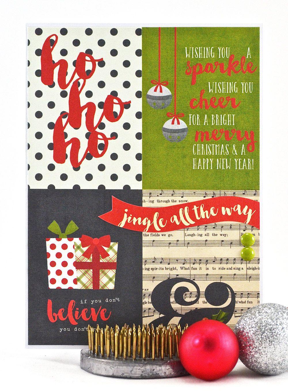 Christmas Card - Merry Christmas Card - Jingle All the Way Card ...