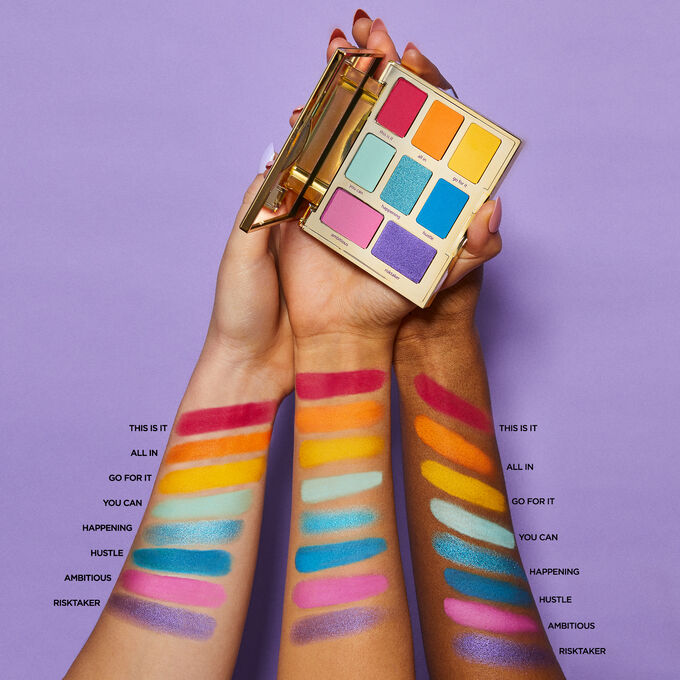 jessiepaege x tarte let it rainbow eye set Jessie