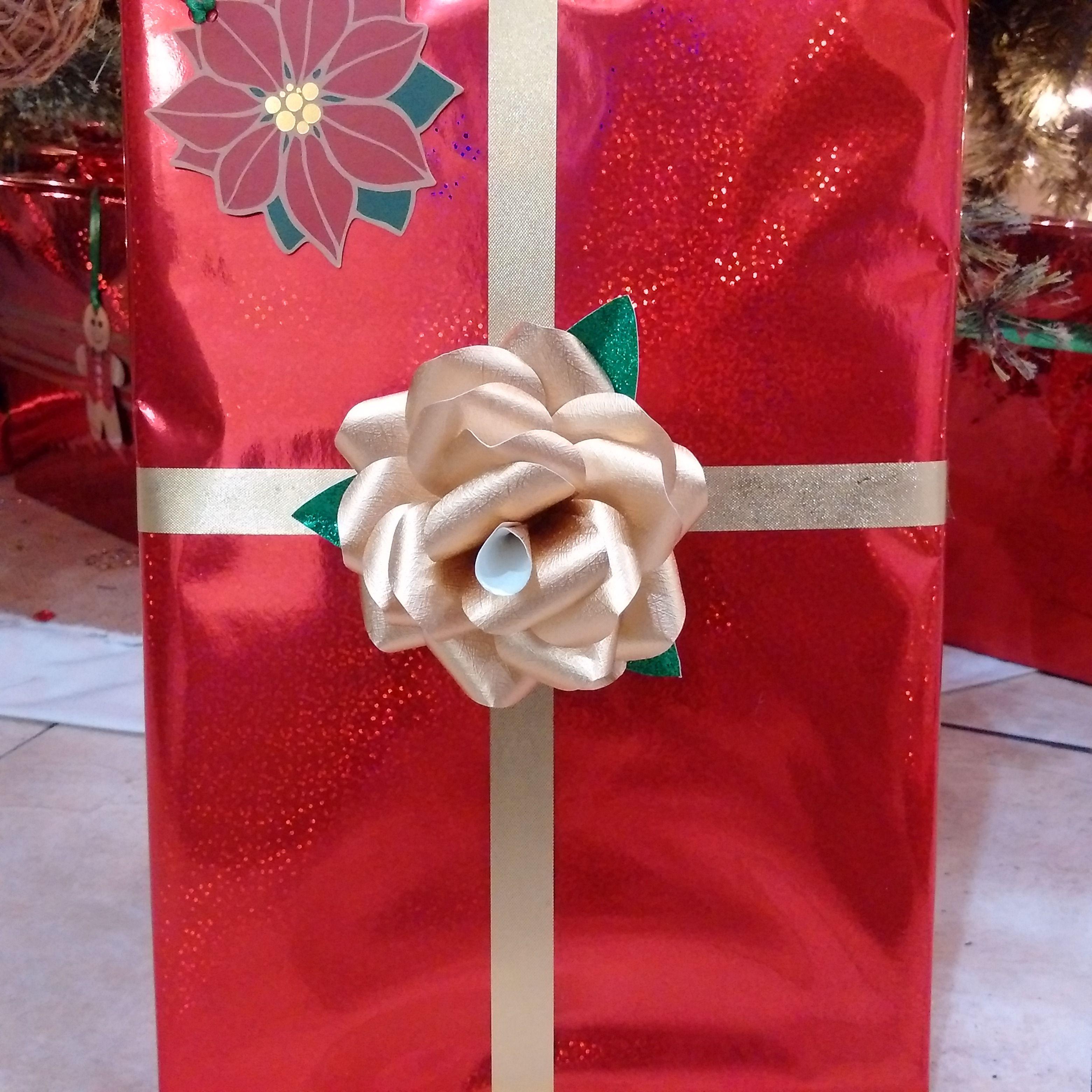 Gold Rose Paper Flower for gift wrap  Paper Flower Design Shop