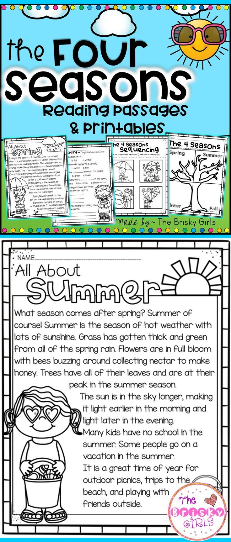 small resolution of The Four Seasons Reading Passages (Take Home Packet)   Reading passages
