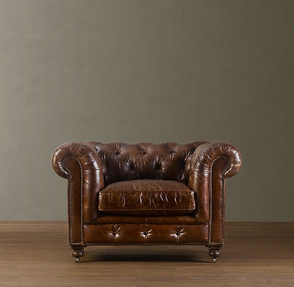 Ordinaire Restoration Hardware   Kensington Leather Chair