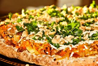 Spicy Thai Pizza ... Interesting sauce and brown rice crust