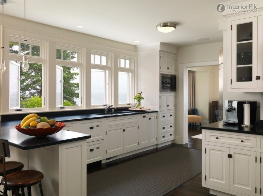 European Farmhouse Kitchen Design Lots Of Natural Light And Counter Space Kitchens Pinterest