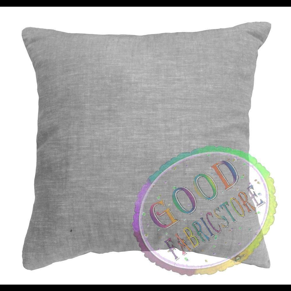 Nla pure linen plain light gray cushion coverpillow case