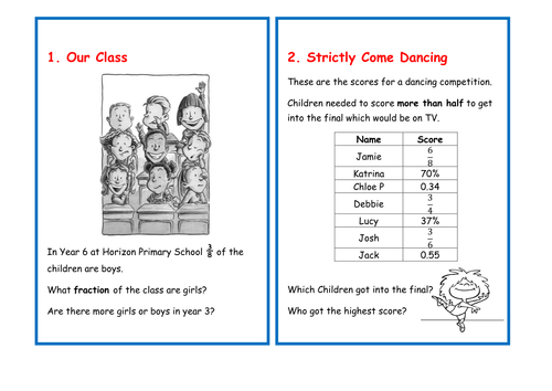 Word Problem Cards - Fractions and Percentages for KS2   Primary ...