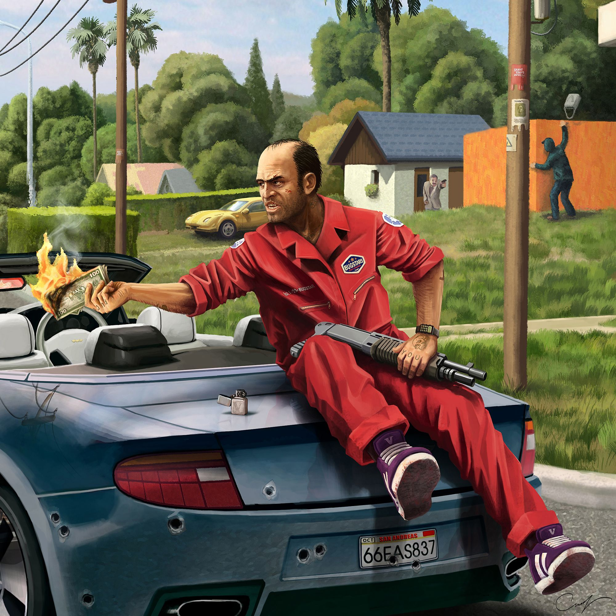 Fan Art Grand Theft Auto V Trevor By Maxifen