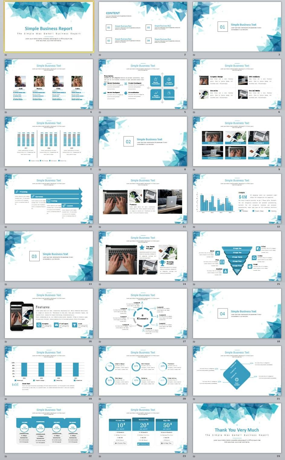 24 simple blue business report powerpoint template pinterest 24 simple blue business report powerpoint template flashek Choice Image