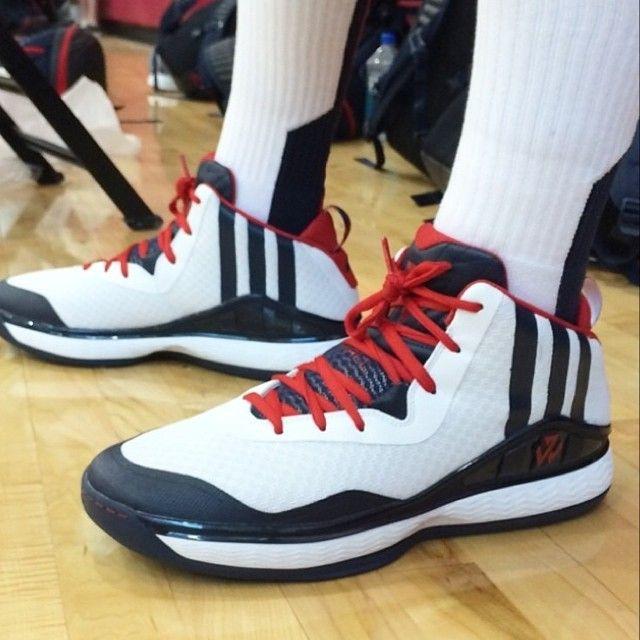 meet 3c12f f3088 johnwall at USA camp in his upcoming adidashoops signature shoe (via nba)