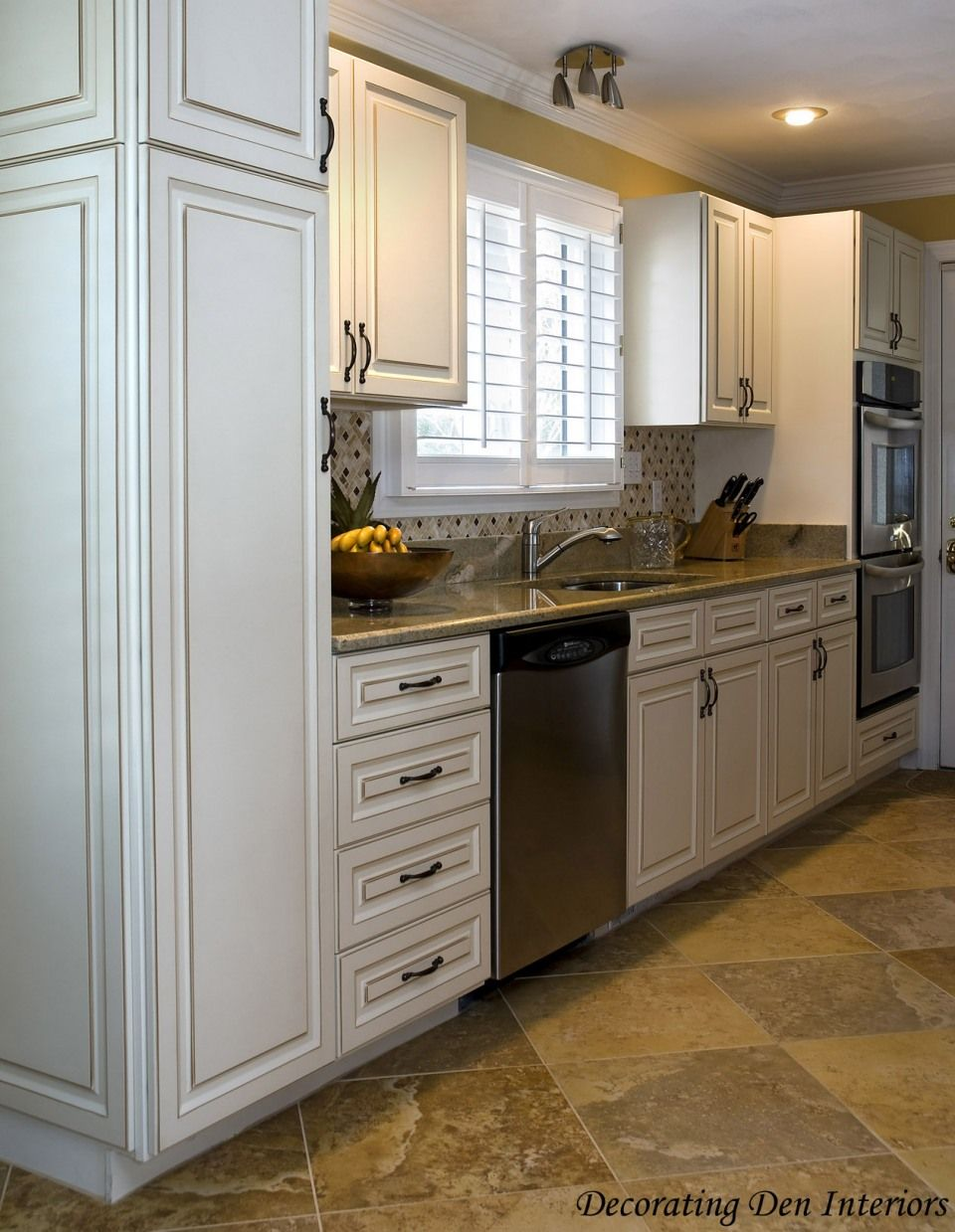 Kitchen Designer Portland Oregon Captivating Travertine Kitchen Flooring Paired With Cream Cabinetery Kitchen Review