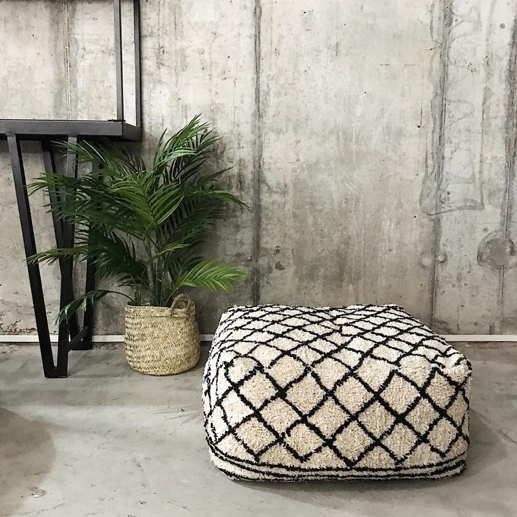 Design Vintage Oslo Berber Pouf Berber Pouf Footstool Green Velvet Armchair Pouf Footstool Vintage Furniture