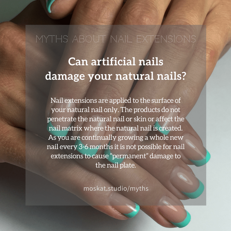 Can artificial nails damage your natural nails? Nail extensions are ...