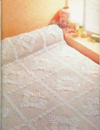 Melhor do Crochê: Colcha branca de crochê