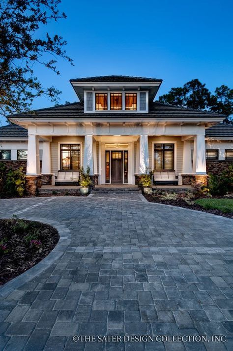 Gainesville Luxury Designer Home: Prairie Pine Court Home Plan L Front Facade L Sater Design