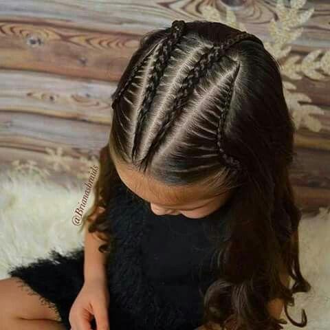 Peinados De Nina Con Trenzas Y Pelo Suelto