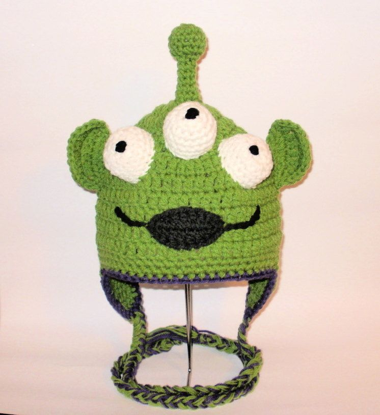 Crochet Pattern Pdf Alien Hat Beanie And Earflap All Sizes