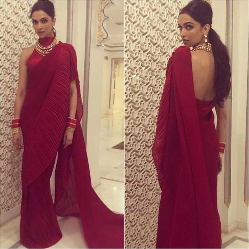 Who Wore What At Isha Ambani S Larger Than Life Pre Wedding Celebrations Saree Trends Indian Saree Blouses Designs Saree Look