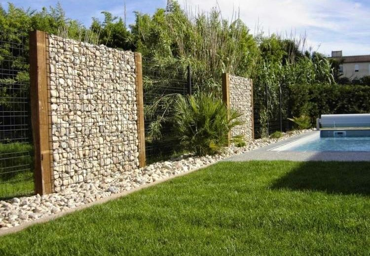 gaviones decorativos para el jard n y jardiner a Gaviones y muros de alambre y piedras - 63 diseños