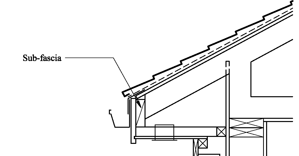 Sub Fascias Are Not Required By Code The Fascia Can Be Nailed Directly To The Truss Tails But While The Sub Fascia Is Typical Fascia Submarine Floor Plans