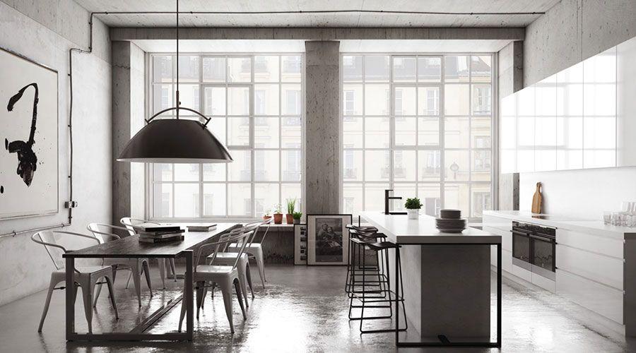 Sala da pranzo in stile industriale 09