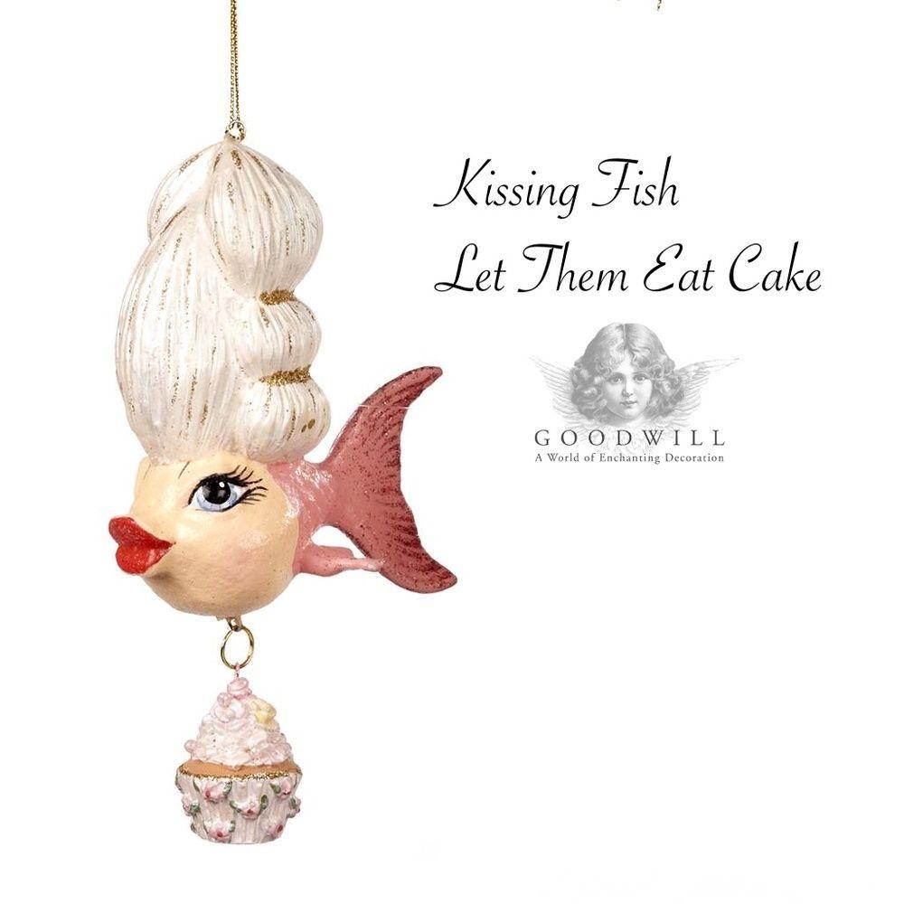 Kissing fish ornament - Kissing Fish Madame Cup Cake Tree Ornament