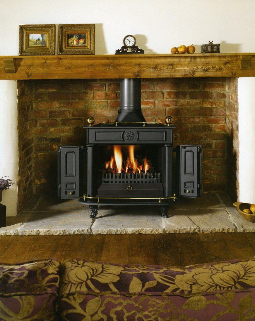 Wood Stove Surround Google Search Corner Wood Stove Woodburning Stove Fireplace Wood Burning Stove Corner