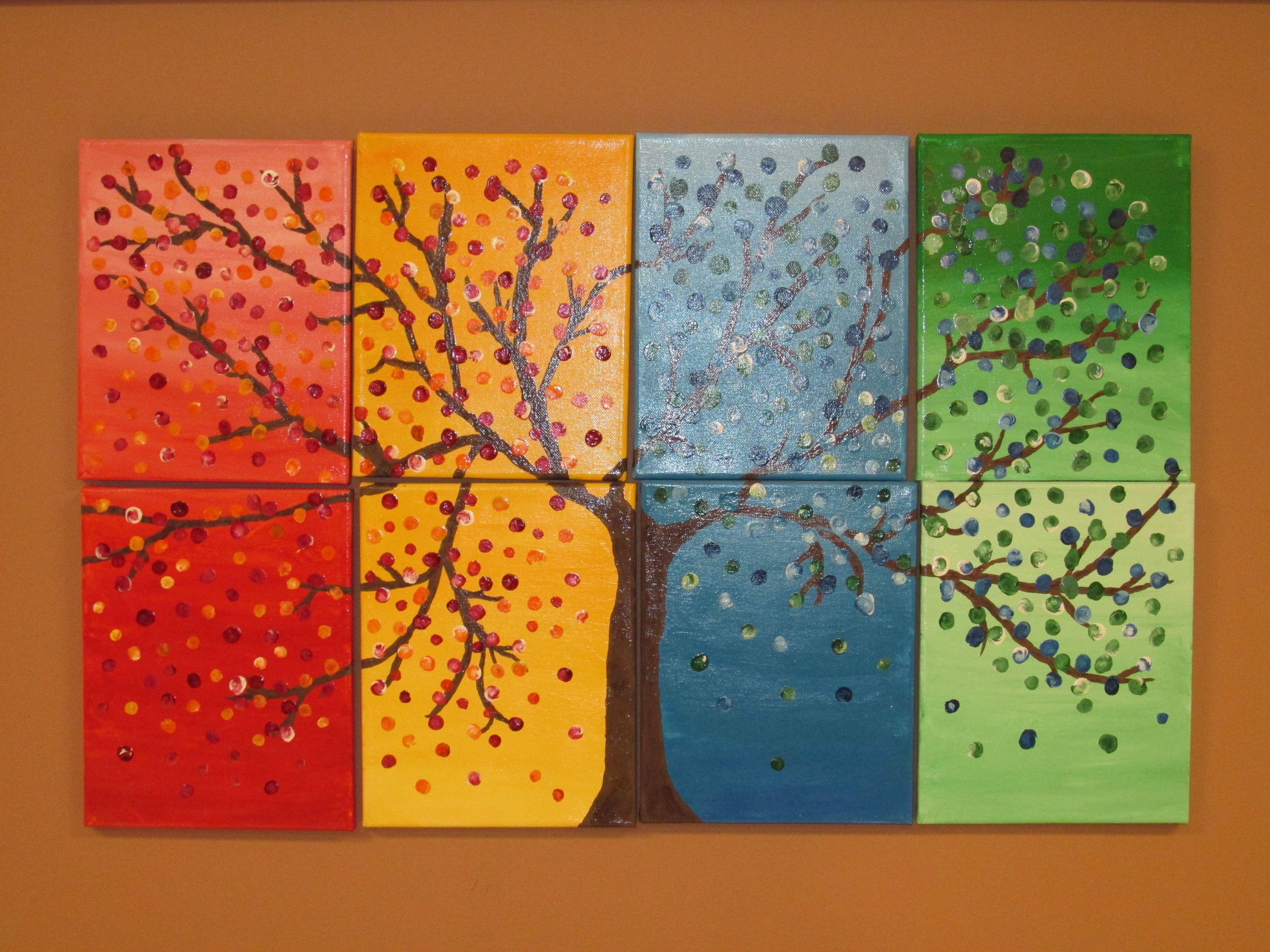 Seasons Google Search Acrylic Art Art Canvas Art